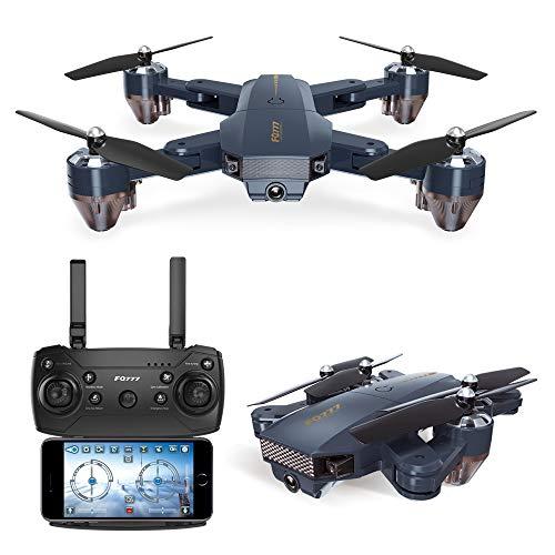 DishyKooker FQ777 FQ35 WiFi FPV con 720P HD Camera Altitude Hold Mode Pieghevole RC Drone Quadcopter...