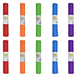Hello Fit Kids Short Yoga Mat, Easy to Clean, Non-Slip Exercise Mat, 10 Pack, Assorted