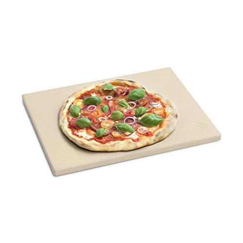 BURNHARD Pietra per Pizza per Forno e Barbecue, Cordierit, Rettangolare, Adatto per Pane, Tarte...