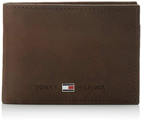 Tommy Hilfiger Johnson Mini CC Flap and Coin Pocket, Cartera Hombre^Mujer, Brown, OS