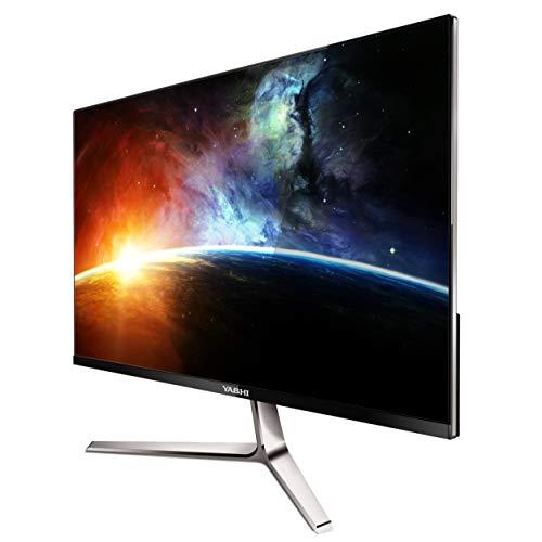 YASHI monitor Pioneer S 24', Super Slim & Frameless, IPS, FHD, multimediale, 2ms, 350 cd/m^2, 1000:1, 75Hz, VGA e HDMI