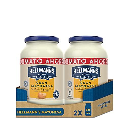 Hellmann's Gran Mayonesa Tarro 825ml - Pack de 2