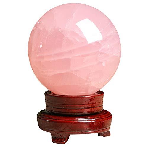 J.Mmiyi Bola De Cristal Rosa Adorno Feng Shui Meditación Esfera De Adivinación Hecho A Mano Home Decoration Regalo,6cm