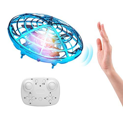 ShinePick Mini UFO Drone, Palla Volante Giocattoli Volanti Controllati a Mano Ricaricabile, RC Quadricottero Induzione a Infrarossi con Luci a LED per Bambini RagazzoRagazza Interno Esterno