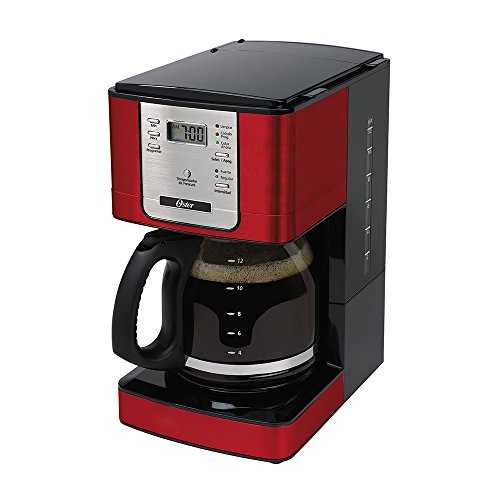 Programmable Flavor Coffee Maker, Red, 220v, Oster