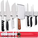Premium 17 Inch Stainless Steel Magnetic Knife Holder for Wall - Professional Magnetic Knife Strip -...