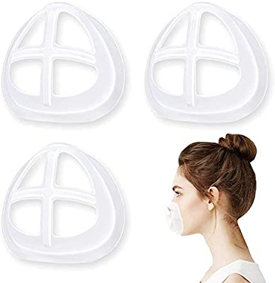 More Space for Breathing - Mask bracket holds up the mask fabric around the mouth to create more breathing space when a mask is put on face. Much Cleaner for Mask Wearing - Mask insert reduces the friction frequency between mask and face to protect t...