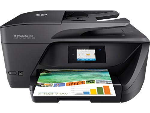HP OfficeJet Pro 6960, Stampante Multifunzione a Getto di Inchiostro, Scanner, Fotocopiatrice e Fax, ADF, Wi-Fi, Wi-Fi Direct, Ethernet, App HP Smart, 3 Mesi di Servizio Instant Ink Inclusi, Nero