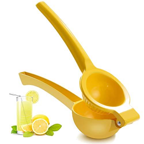 Manual Juicer Citrus Lemon Squeezer,Fruit Juicer Lime Press Metal,Professional Hand Juicer Kitchen Tool(yellow)