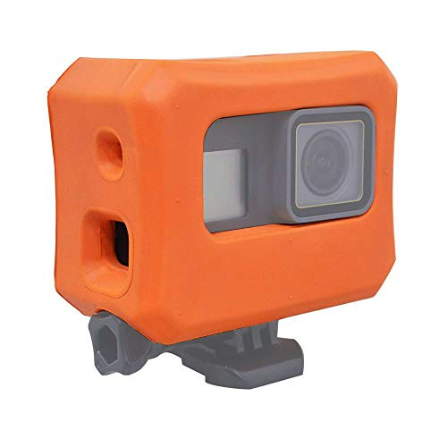 micros2u Custodia galleggiante / galleggiante arancione. Compatibile con GoPro HERO 7, HERO 6, HERO 5 & Hero 2018