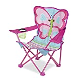 Melissa & Doug Cutie Pie Butterfly Camp Chair (Easy to Open, Handy Cup Holder, Cleanable Materials, Carrying Bag, Great Gift for Girls and Boys - Best for 3, 4, and 5 Year Olds)