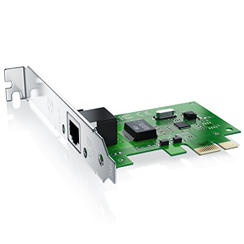 CSL - PCIe Gigabit Netzwerkkarte LAN Card - PCI-E PCI Express - 10 100 1000 Mbit s Gigabit Netzwerke - LAN Fast Ethernet Gigabit - Silber