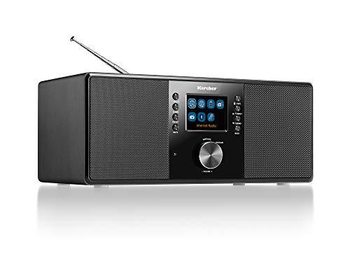 Karcher Dab 7000i Internet Radio Dab+ / FM RDS – WiFi & Bluetooth – Connexion USB – AUX-in – Réveil avec Double Alarme Noir