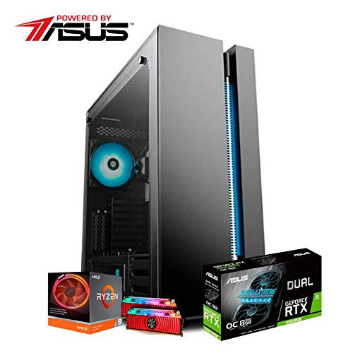 PC GAMER ITX POWERED BY ASUS/RYZEN 9 3900X / RTX 2080 SUPER 8GB / 16GB (2x8GB) RAM 3000MHZ / SSD 960GB / GABINETE GAMER NEW ARK 90MC