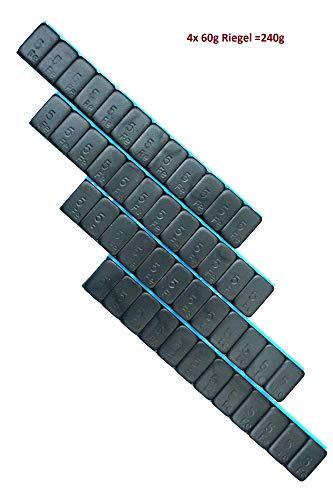240g Auswuchtgewichte schwarz kunststoffbeschichtete Stahlgewichtsriegel 4x60g