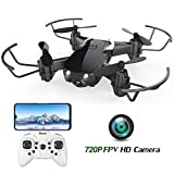 Mini Drone with 720P Camera for Kids and Adults, EACHINE E61HW WiFi FPV Quadcopter with 720P HD Camera Selfie Pocket Nano Drone for Beginner - Auto Hover Mode, One Key Take Off/Landing, APP Control