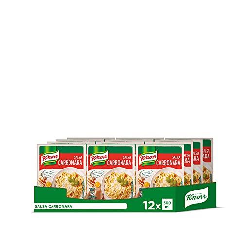 Knorr Salsa Para Cocinar Líquida Carbonara 300Ml (Pack De 12 X 300Ml. Total: 3,6 Litros)