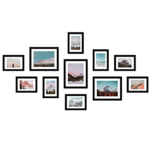 11 Pack Wooden Picture Frames 5x7 8x10 Gallery Wall Photo Frames...