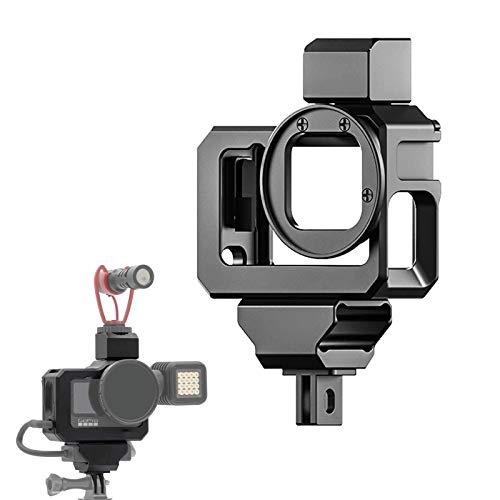 Ulanzi G9-5 Custodia protettiva per GoPro9,in metallo Video Rig per GoPro Hero9,con anello adattatore filtro ND da 52 mm, compatibile con bastone per selfie,mini treppiede,microfono e luce video