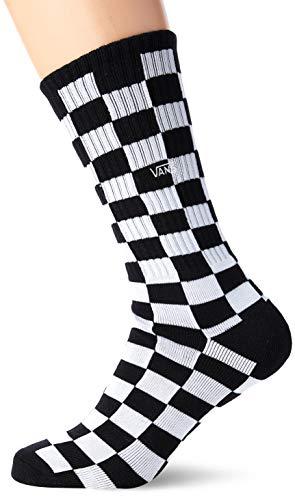 Vans Checkerboard II Crew (6.5-9, 1p) Calze, Multicolore (Black-White Check Hu0), Taglia unica Uomo