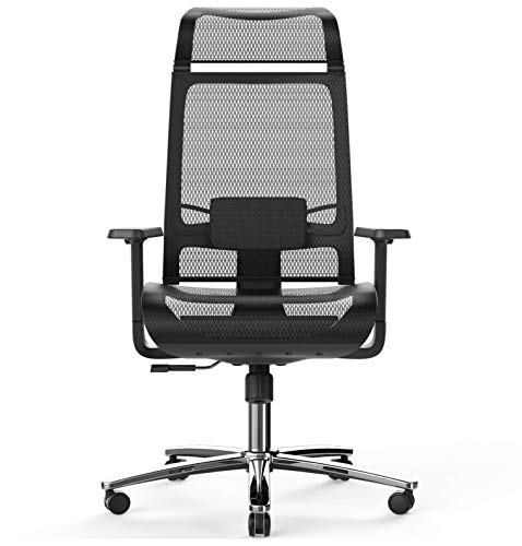 Product Image 1: BILKOH Ergonomic Office Chair, High Back Desk Chair with Mesh Seat - Adjustable Lumbar Support Breathable Mesh Chair Wide Headrest& Reclining Task Chair Adjustable 3D Armrest & Height <a href=