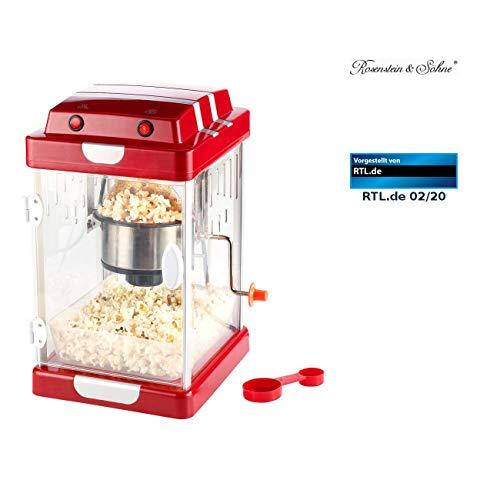 """Rosenstein & Söhne Popcornmaschinen: Retro-Popcorn-Maschine \""""Movie\"""" im 50er-Jahre-Look (Popcornmaschine Retro)"""
