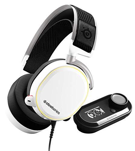 SteelSeries Arctis Pro GameDAC Cuffie da Gioco Audio ad Alta Risoluzione Certificato, ESS Sabre DAC, Bianco