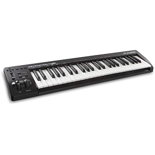 M-Audio Keystation 61MK3 | 61-Key USB MIDI Keyboard Controller with Pitch/Modulation Wheels, Free App Lessons and Software Production Suite