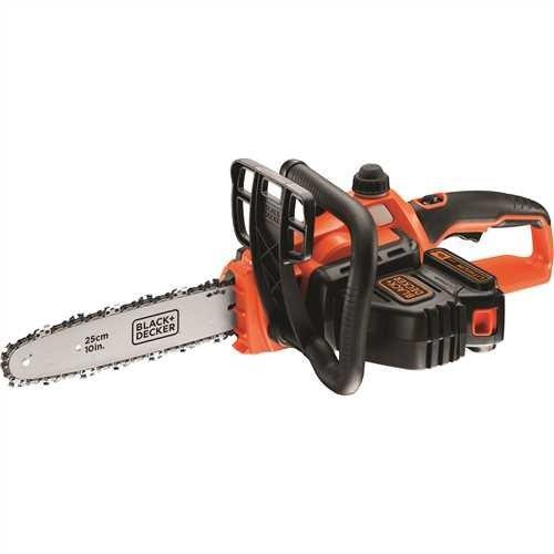 Black+Decker Li Ion Akku-Kettensäge 18V GKC1825L20 mit Akku und Ladegerät – Ideal für Holz- & Gartenarbeiten – 25 cm Schwertlänge