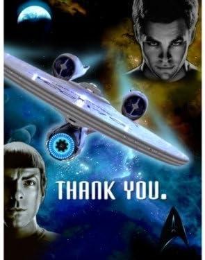 Amazon.com: Hallmark Star Trek Party Thank You Notes (8 ct) : Toys & Games