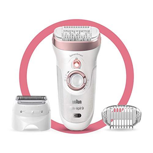 Braun Silk-épil 9 9-720 – Epilierer für Frauen für eine langanhaltende Haarentfernung, weiß/roségold