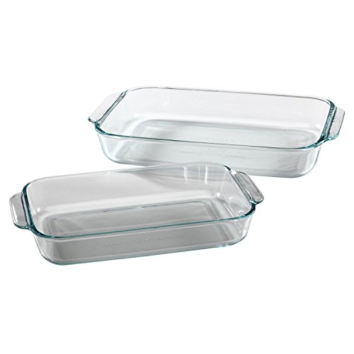 Pyrex Basics Clear Oblong Glass Baking Dishes