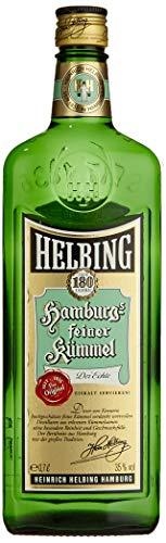 Helbing Kümmel - Hamburgs feiner Kümmel Schnaps seit 1836 - Trinkt man eiskalt, pur oder mit Tonic. (1 x 0,7 l)
