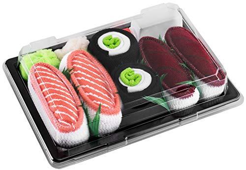 Rainbow Socks - Ragazza Ragazzo Calzini Sushi Tonno Cetriolo Salmone Maki - 3 Paia - Taglia 30-35