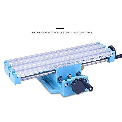 Säulenbohrmaschine, Mini Tischbohrmaschine Vise Fixture Arbeitstisch X Y-Achse Verstelltisch Schwenkbar lesbare Tiefenskala Verstellbarer Bohrtisch