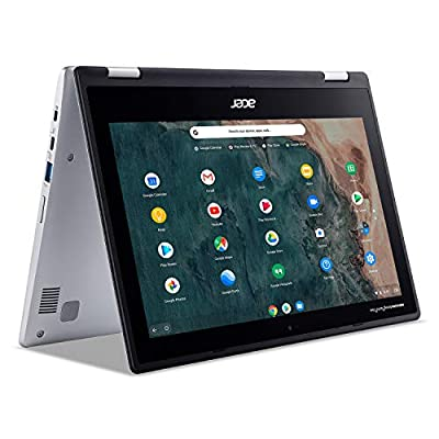 Chromebook runs on Chrome OS - An operating system by Google that is built for the way we live today. It comes with built-in virus protection, updates automatically, boots up in seconds and continues to stay fast over time. (Internet connection is re...