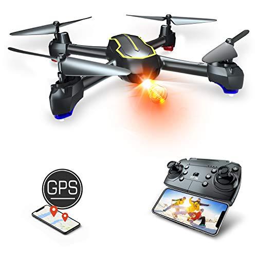 Asbww | Drone GPS con Telecamera Full HD 1080p per Bambini e Principianti - Quadricotteri RC Droni FPV con GPS Funzione...