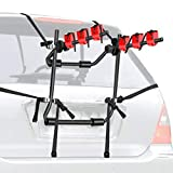 Walmann Bike Trunk Mount 3-Bike Car Carrier Rack for Auto-mobile Bicycle Rack Fits Most Cars, Sedans, Hatchbacks, Minivans and SUVs