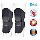ANCROWN Power Knee Stabilizer Pads, 2020 New Version Powerknee Braces Joint Support, Protective Gear Booster with 4 Powerful Springs for Men/Women weak Legs, Arthritis Pain, Fitness, Sports