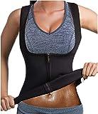 GAODI Women Waist Trainer Sauna Vest Slim Corset Neoprene Cincher Tank Top Weight Loss Body Shaper (XL, Black)