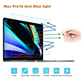 FORITO 2-Pack Compatible MacBook Pro 16-Inch Screen Protector -Blue Light Filter, Eye Protection Blue Light Blocking Anti Glare Screen Protector for Apple MacBook Pro 16 Model A2141