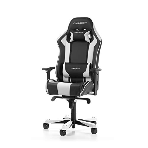 DXRacer (l'original King K06 Chaise Gaming, Similicuir, Noir & Blanc, 160-195 cm
