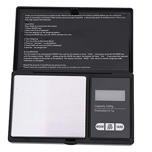 Peser la balance de gramme, mini balance de poche numérique portative de...