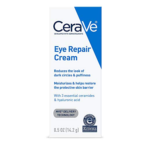 CeraVe Eye Repair Cream | 0.5 oz | Eye Cream for Dark Circles & Puffiness | Fragrance Free