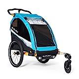 Burley Design D'Lite X, 1 Seat Kids Bike Trailer & Stroller, Aqua