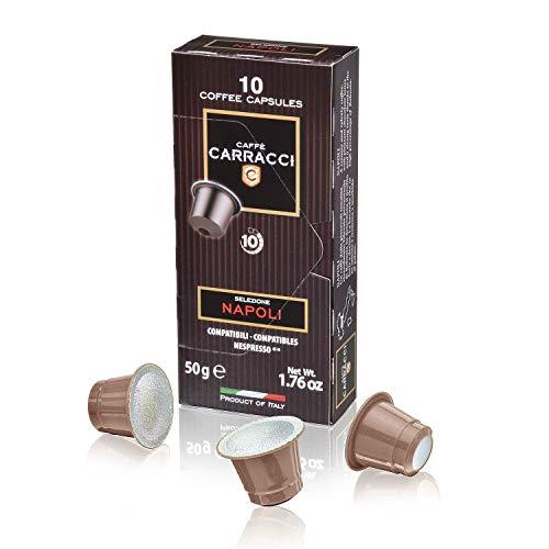 Caffè Carracci Selezione Napoli - Capsule Compatibili Nespresso, Intensità 10, 100 Unità