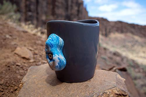 Sketchy Crimp Mug Rock Climbing Mug (White, Blue)