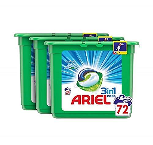 Ariel Todo en Uno Pods, Frescor de los Alpes Detergente en Cápsulas, 72 Lavados, con Lavado a 30 °C y Perfume Duradero