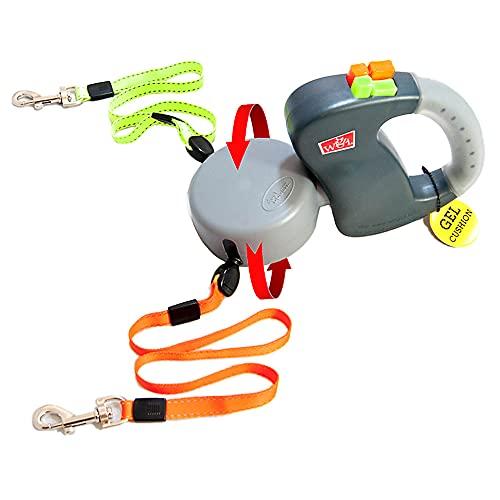 Wigzi Two Dog Retractable Non-Tangling Dog Leash...