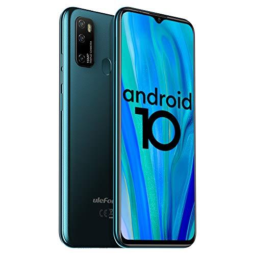 Unlocked Smartphones Ulefone Note 9P (2020) Android 10 Unlocked Cell phones, Triple Rear Camera Triple Card Slots, 6.52' Waterdrop Full-Screen Dual SIM Phones, 4500mAh Global Bands, US Version - Green